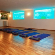 Il Borghino Yoga Room with MANDUKA quality yoga props