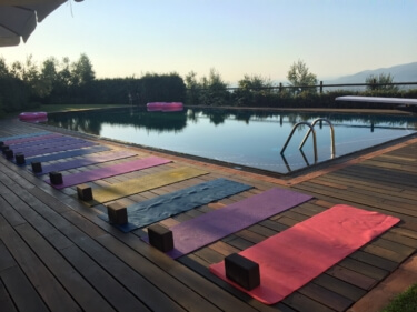 Yoga in Italy - Yoga Morning Practice by the pool