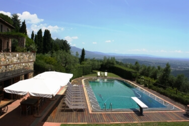 Borghino swmming Pool View from Gelso