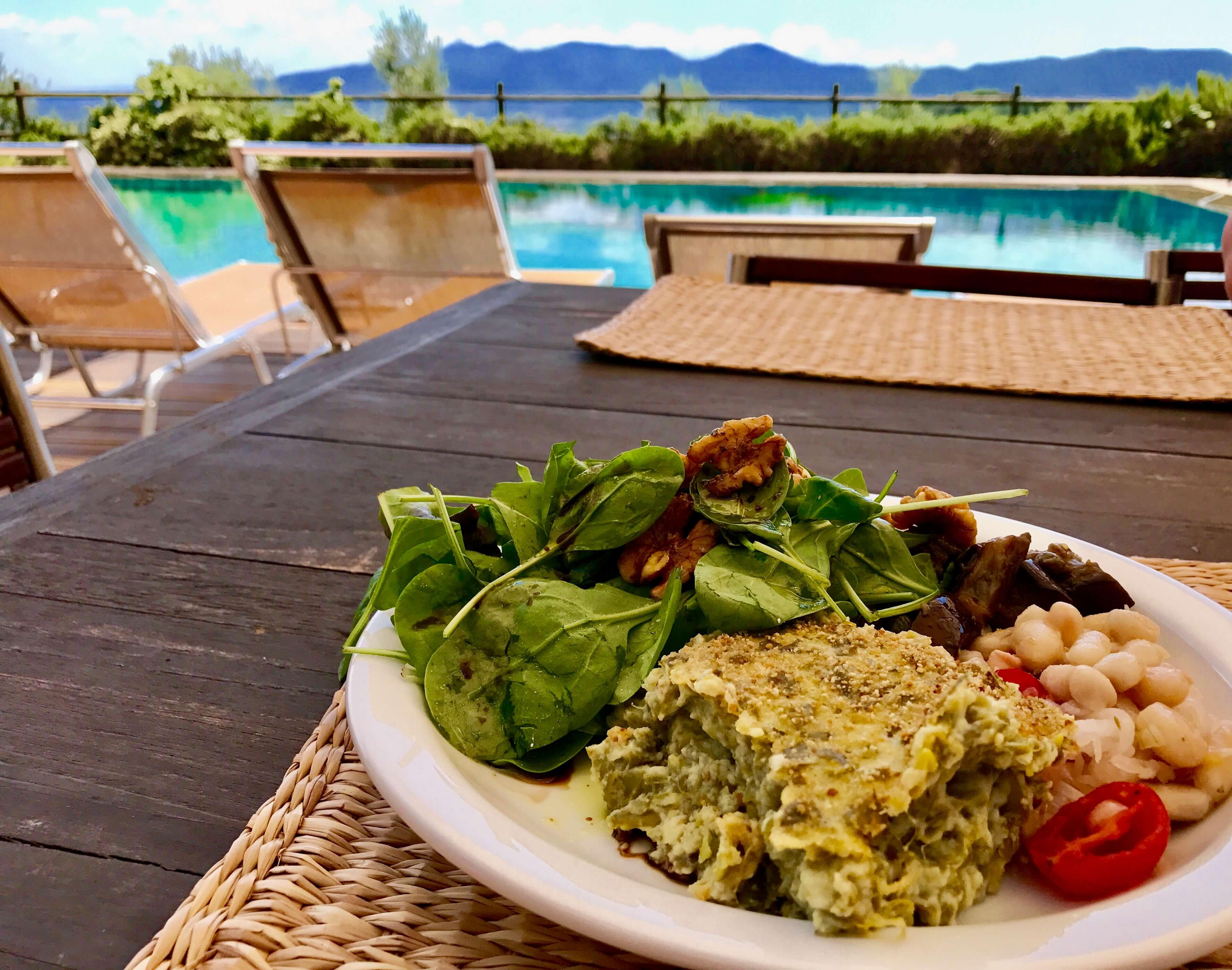 Food - Sformato with Cannelini bean salad