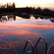 Il Borghino Sunset over the pool