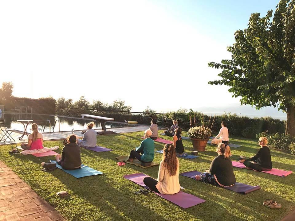 Sunrise meditation Italy Yoga Retreat