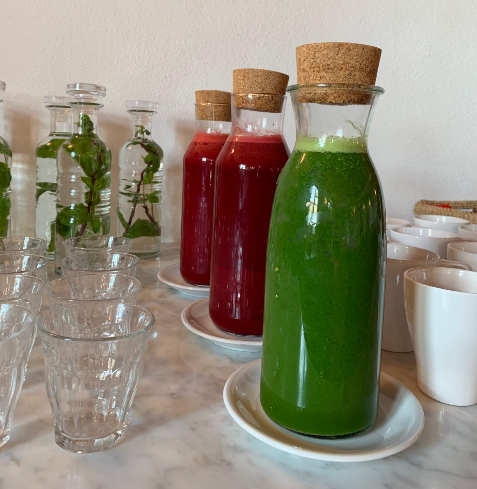 Freshly Pressed Fruit and Vegetable Juices Daily